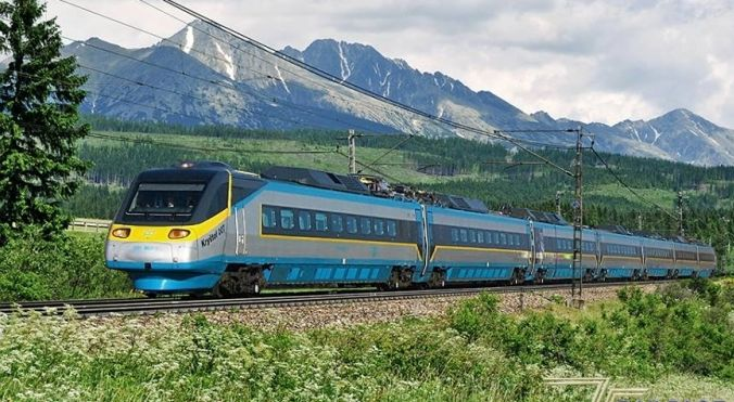 TATRY - vlaková doprava (Pendolino)