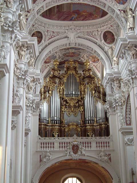 Pasov, varhany v Dómu sv. Štěpána