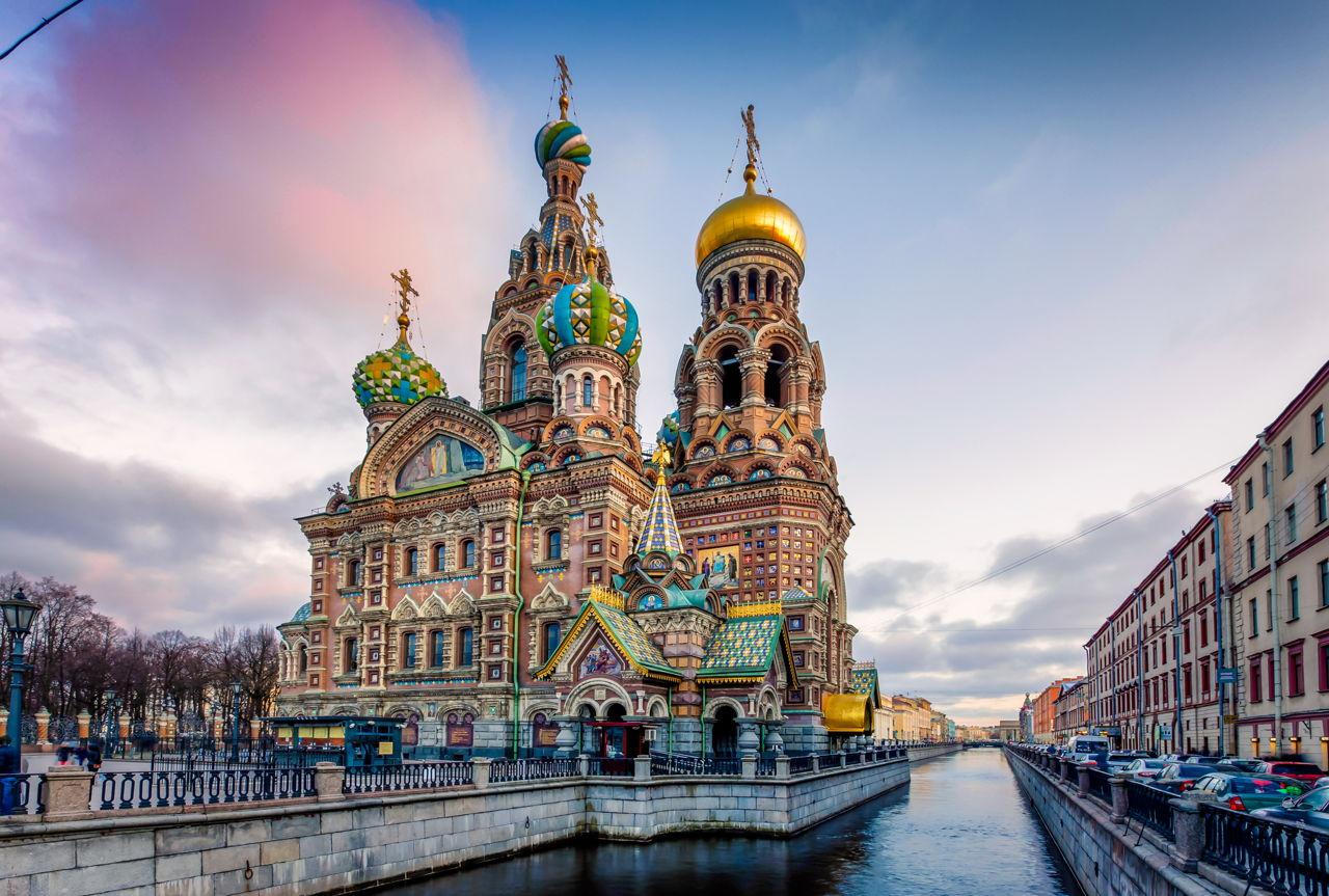 Petrohrad, chrám Vzkříšení Krista -
