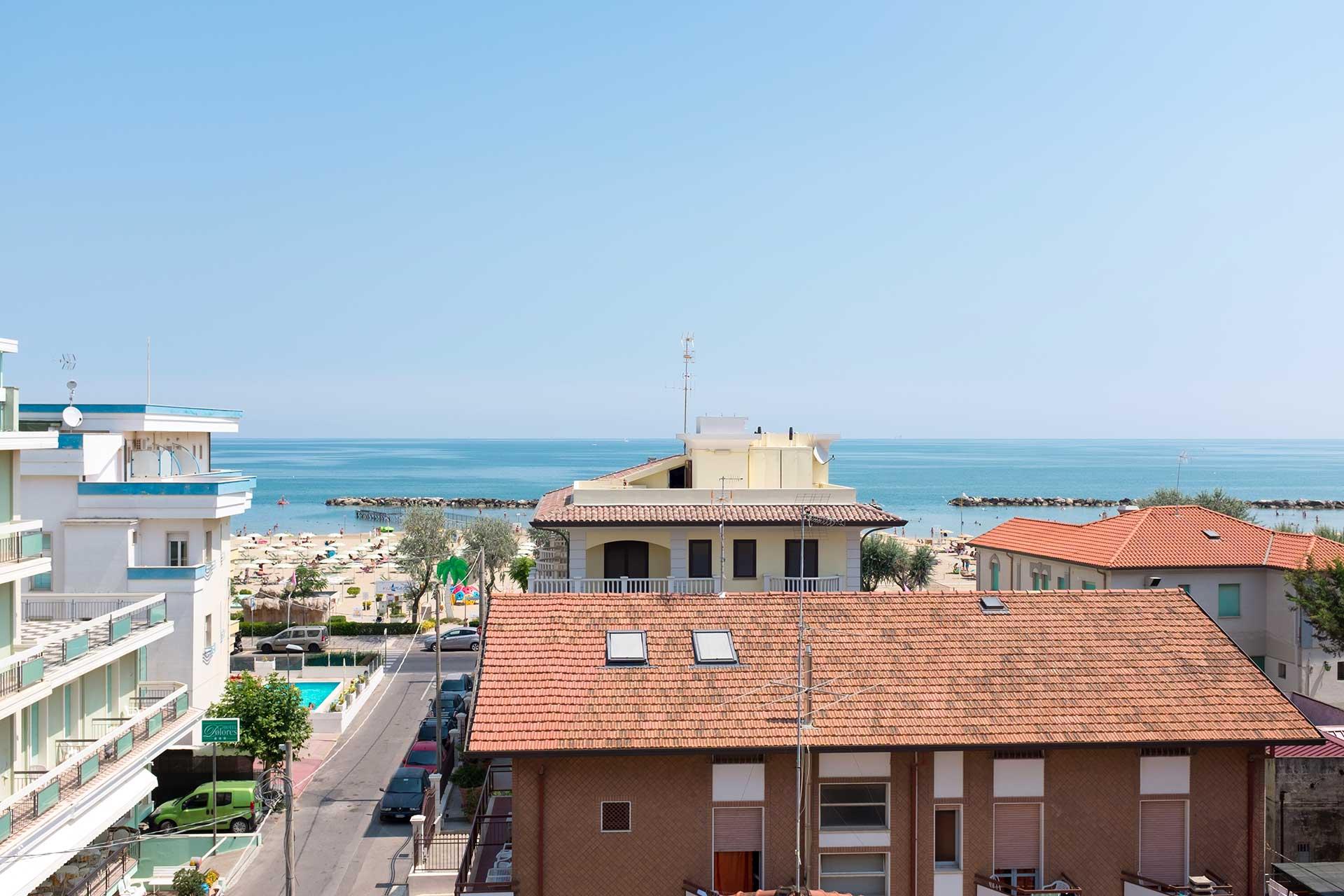 Hotel Kariba, Rimini - výhled na moře