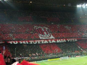 AC Milan stadion - fanoušci AC Milan