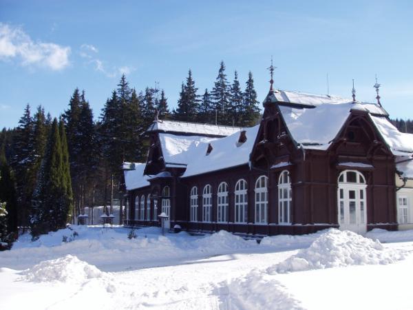 Karlova Studánka, areál v zimě