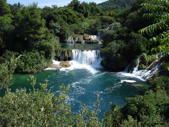 Chorvatsko národní park řeky krky