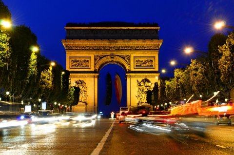 paříž - vítězný oblouk -
