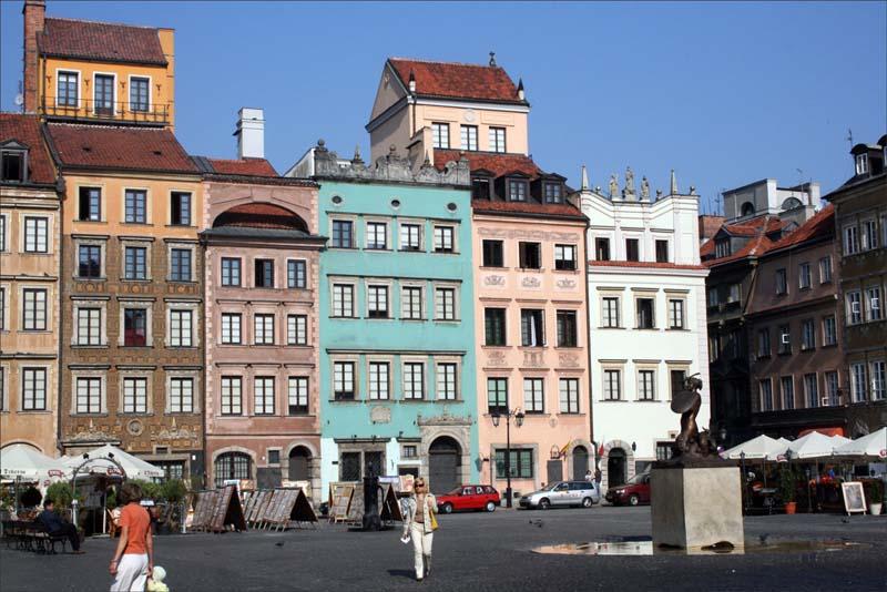 Varšava, stará část města