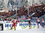Oberhof, Světový pohár, stíhací závod ženy/muži, autokarem