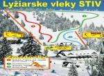 Penzion Stiv, mapa lyžařského vleku