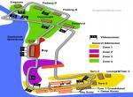 Singapure F1 - plánek rozmístění tribun