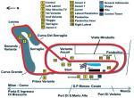 Monza - plánek - rozmístění tribuna na okruhu v Monze