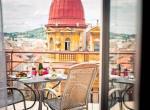 Hotel Amarilis, Praha, posezení na terase s výhledem