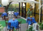 Hotel Reale, Rimini, možnost servírování v zahradě