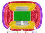 Real Madrid - vstupenky, orientační rozmáístění kategorií vstupenek na stadionu Realu Madrid