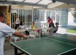 Penzion Labu�, terasa se stol. tenisem