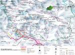 Ghandruk - mapa, oblast Annapurny