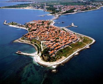 Černé moře - slunečné pobřeží letecky