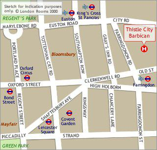Hotel Thistle City Barbican, mapka
