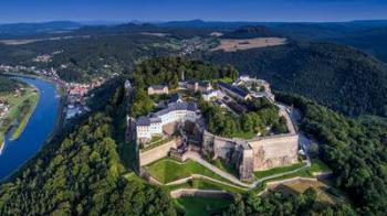 Königstein, letecký pohled
