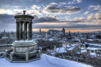 Edinburgh v zimě