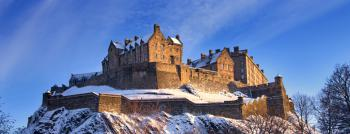Edinburghský hrad  v zimě