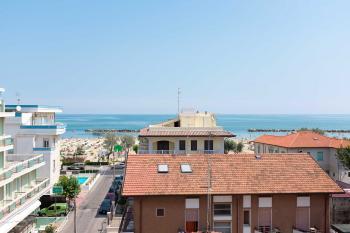 Hotel Kariba, Rimini, výhled na moře