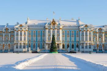 Petrohrad v době adventu, letecky
