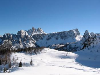 Val di Fassa. zima -