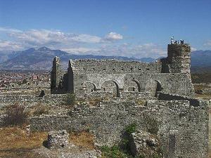 Shkodra - pevnost Rozafat -