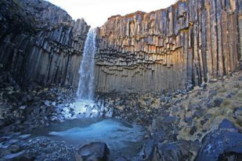 Národní  park Skaftafell - vodopád