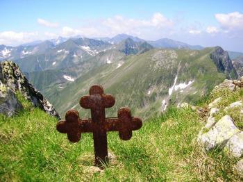 Fagaraš - kříž na Moldoveanu -