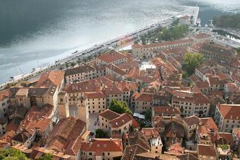 Kotor - Pohled na staré město