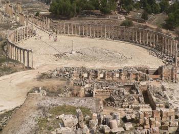 Jerash - oválné fórum