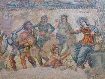 Paphos - jedna z mozaiek