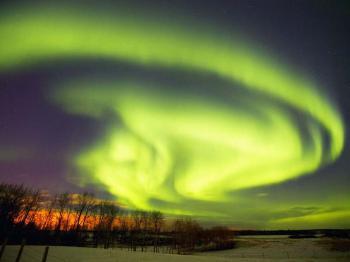 polární záře -
