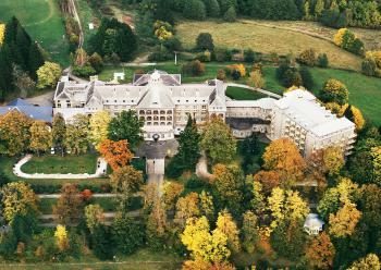 Priessnitzovy lázně - Podzim - letecky