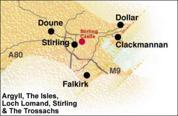 Stirling - mapa