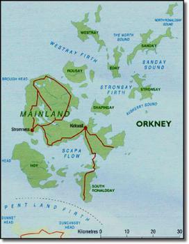Orkneye, mapa