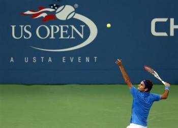 US open, Federer
