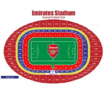 Umístění vstupenek Club level FC Arsenal