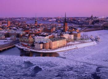 Stockholm v zimě